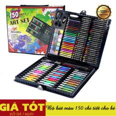 Bộ bút màu 150 món (Màu dạ, màu chì, màu nước), Bộ Màu 150 Chi Tiết Cho Bé- Bộ bút màu cho bé sáng tạo, Bút màu 150 chi tiết – Hộp bút màu 150 món cho bé