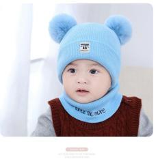 TẾT – Set mũ tặng kèm khăn ống cục bông hàng xịn cho bé gái bé trai 0-36 tháng