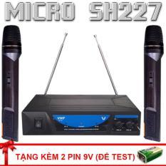 Mic hát karaoke , bộ 2 micro không dây và đầu thu SH-227 hát karaoke cực hay , chất lượng âm thanh tự nhiên chuyên nghiệp (tặng pin 9V)