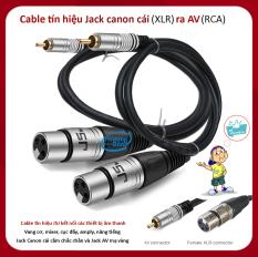 COMBO 2 Dây JSJ Jack Canon cái (XLR) ra Jack AV (RCA) Cable tín hiệu kết nối các thiết bị âm thanh