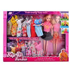 Bộ sưu tập thời trang cao cấp búp bê Barbie song sinh xinh xắn