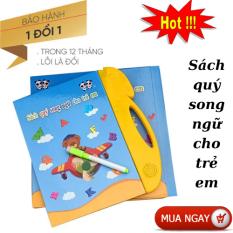 Sách nói điện tử song ngữ Anh-Việt – Sách thông minh Song ngữ điện tử cho bé đọc hát kể chuyện – Sách thông minh cho bé học tiếng anh- tiếng việt – toán tặng kèm bút