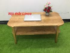 BSF- Bàn sofa 2 tầng gỗ cao su T919-4 KT100x50x45, bàn trà, bàn cafe, cà phê, coffee, bàn gỗ phòng khách