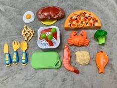 Bộ đồ chơi cắt bánh pizza và thức ăn