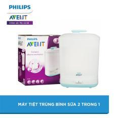 (12-15.11 TẶNG QUÀ 235K) Máy tiệt trùng bình sữa 2 trong 1 Philips Avent SCF922/03