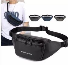 Túi đeo chéo nam phong cách Hàn Quốc – Túi bao tử nam chống nước, chống bám bụi (Đen) W1