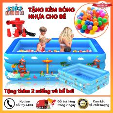 [Tặng Kèm Đồ Chơi] Bể bơi phao 3 tầng, bể bơi 1m2, bể bơi 1m3, bể bơi 1m5, bể bơi 1m6, bể bơi 1m8 bể bơi 2m1, chất liệu nhựa PVC an toàn với trẻ nhỏ, Tặng kèm 2 miếng vá kèm theo hồ bơi