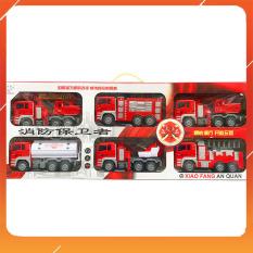 Đồ Chơi Noel – Mô Hình 6 Xe Cứu Hỏa 6675-3 – Đồ Chơi Trẻ Em Toy Mart