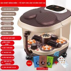 Máy mát xa chân máy massage hiệu KAIMEIDI mát xa bàn chân ngâm chân tự động thêm nhiệt máy mát xa điện