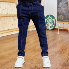 DIIMUU Kids Baby Boys Jeans Casual Slim Long Trouers Denim Pants Children Clothing