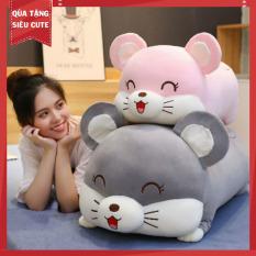 Gấu bông chuột mắt híp 2 màu XÁM + HỒNG HÀNG VIỆT NAM, thú nhồi bông hình con chuột có thể làm gối ôm hình chuột, gấu bông ôm chuột mắt híp, chuột nhồi bông đáng yêu như gấu bông heo, gối ôm hình thú, gấu bông cute GDHEO