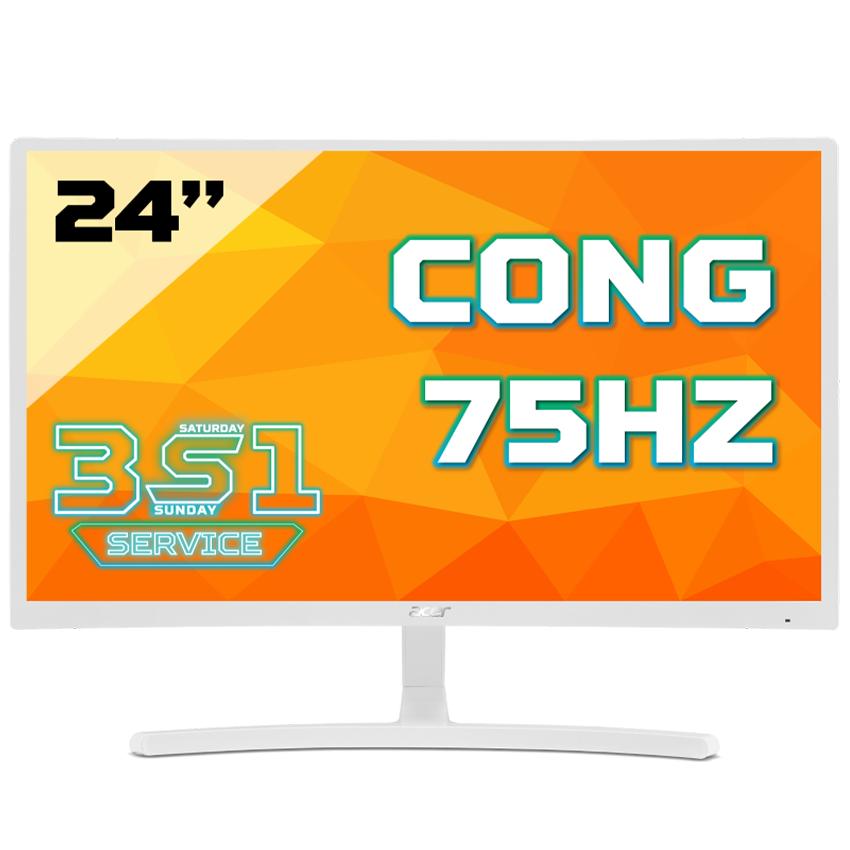 Màn hình cong Acer ED242QR(White) Abidpx 24 VA 75Hz FreeSync chuyên game – Hàng Chính Hãng