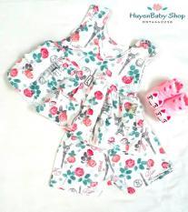 Bộ quần áo ngắn tay bé gái dễ thương cho bé từ 8-20kg