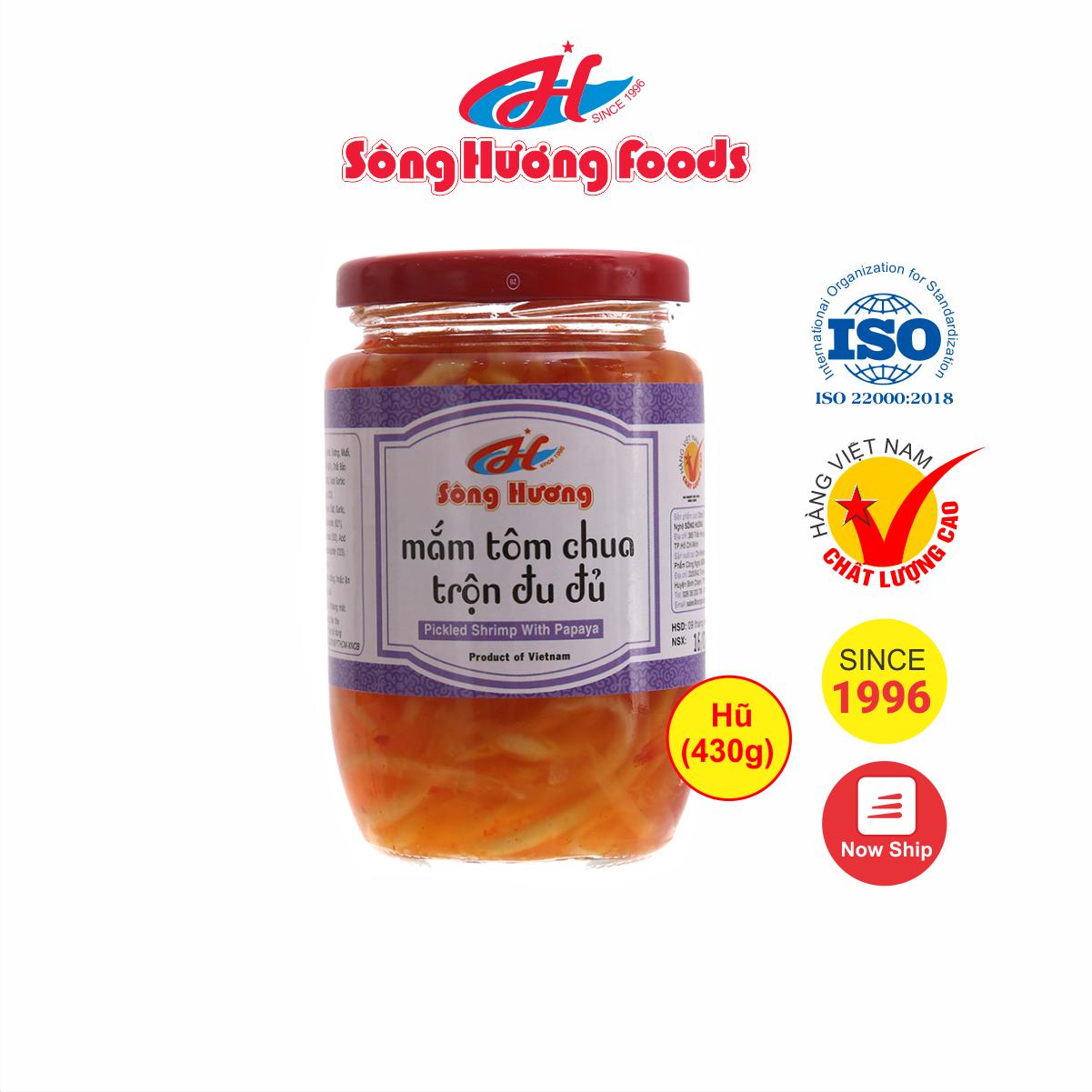 Mắm Tôm Chua Trộn Đu Đủ Sông Hương Foods Hũ 430g