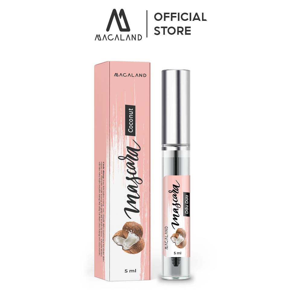 Mascara Dầu Dừa – Dầu Dừa Mắc Ca nguyên chất 5ml MACALAND dưỡng mi dài chắc khỏe (tự chọn)