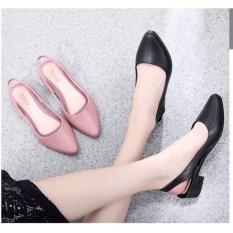 Giày búp bê nữ tiểu thư có quai chất da-nhiều màu