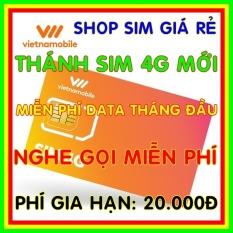 Sim 4G Vietnamobile Miễn phí DATA không giới hạn + Nghe Gọi Và Nhắn Tin Nội Mạng Miễn Phí – Phí gia hạn 20.000đ – Shop Sim Giá Rẻ