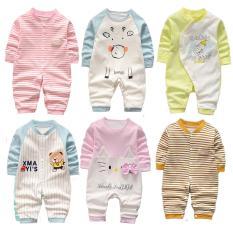 Bodysuit cotton liền quần dài tay bé trai bé gái (áo liền quần, body suit, sleep suit, body thu đông)(Hàng Quảng Châu xuất Hàn) TTS170