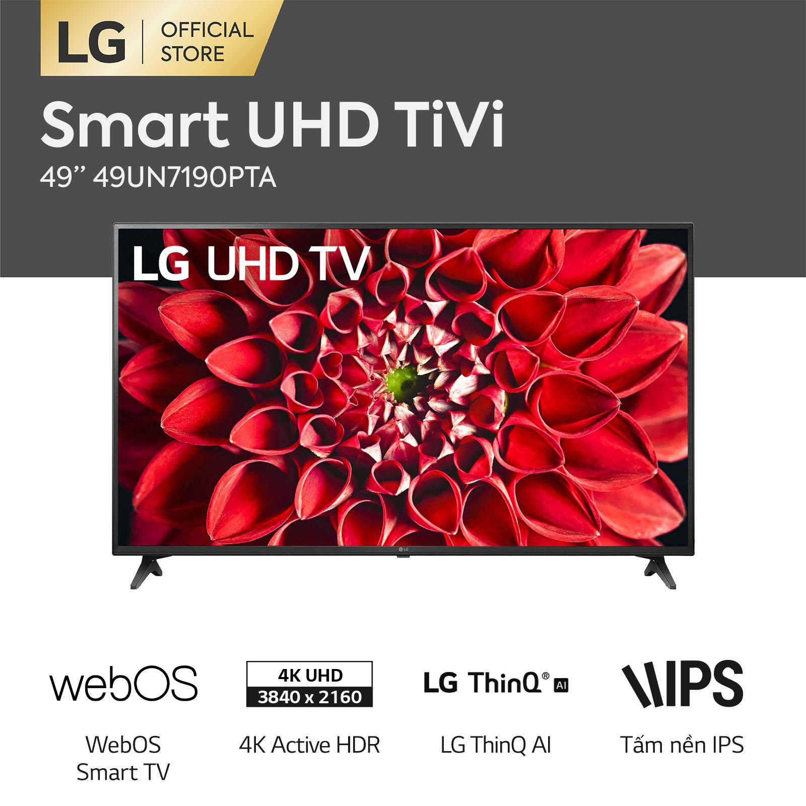 [FREESHIP 500K TOÀN QUỐC] Smart Tivi LG 49inch 4K 49UN7190PTA Model 2020 – Hãng phân phối chính thức