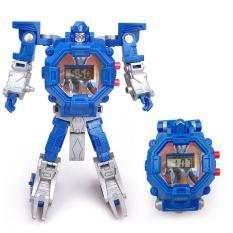Đồng Hồ Điện Tử Dành Cho Trẻ Em 3-5 Tuổi Biến Hình Robot 2 Trong 1 OutFlety