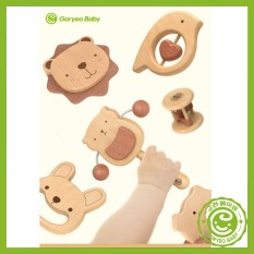 Bộ xúc xắc cho bé bằng gỗ mộc 100% chính hãng Goryeo Baby Hàn Quốc an toàn, phát triển kỹ năng cho bé