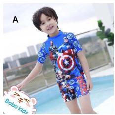Đồ bơi bé trai hình siêu anh hùng 12-25kg – Vải co giãn tốt tạo cảm giác thoải mái dễ chịu khi mặc – Red Ant Kids