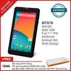 Máy tính bảng cutePAD M7078 Wifi/3G 7″ Android GO – Bảo hành chính hãng, Tặng bao da & pin sạc dự phòng
