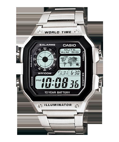 Đồng hồ Casio Nam AE-1200WHD-1A chính hãng giá rẻ – Bảo hành 1 năm – Pin trọn đời