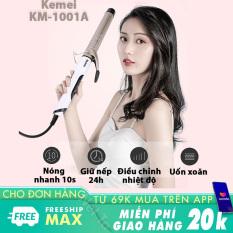 Máy uốn tóc Kemei-1001A cao cấp điều chỉnh 4 mức nhiệt độ thông minh phù hợp với mọi loại tóc chuyên dùng tạo kiểu tóc uốn xoăn, uốn lọn tiện lợi