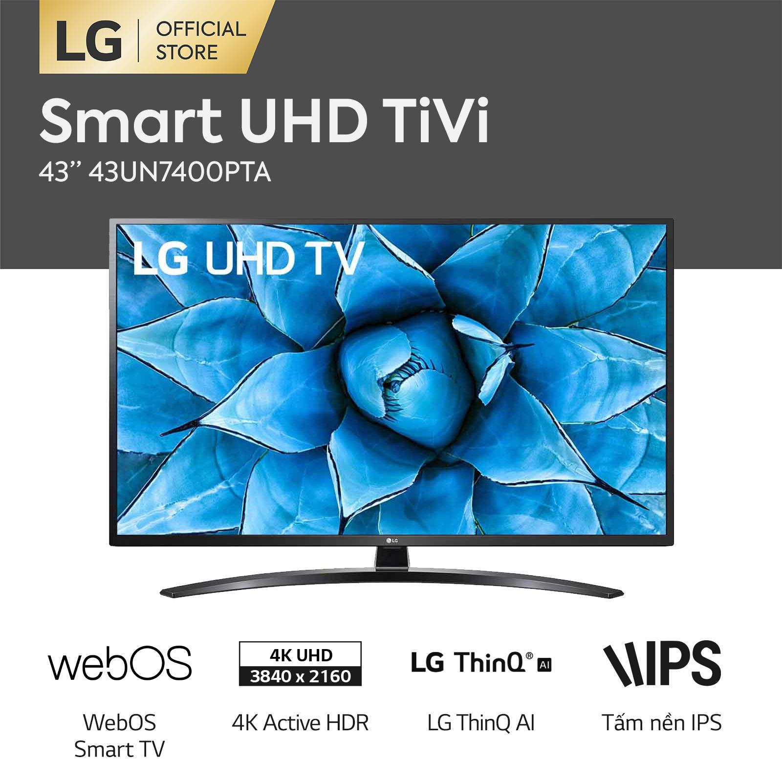 [FREESHIP 500K TOÀN QUỐC] Smart Tivi LG 43 inch 4K UHD 43UN7400PTA Model 2020 – Hãng phân phối chính thức