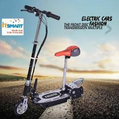 Xe trượt scooter điện E-Scooter 15km/h, tải trọng 80kg, 120w phụ hợp mọi lứa tuổi (Đen