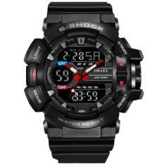 Đồng hồ thể thao nam chống nước chống sốc kiểu dáng thời trang trẻ trung Smael 146836 Black Red Bảo hành 12 tháng