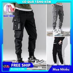 Quần nam jogger kaki thô túi hộp thể thao mã TT33 kiểu bó ống Hàn Quốc chất vải đẹp ống dài
