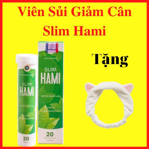 Viên Sủi Giảm Cân Slim Hami Tặng Kèm Băng Đô Rửa Mặt – AN001