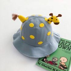 Mũ vành hình Hươu 3D có dây quai cho bé 1-3 tuổi