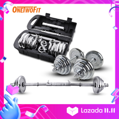 OneTwoFit tạ tay 20kg barbell Dumbbell Weight Barbell bar , Bộ đĩa tạ tập gym OT010