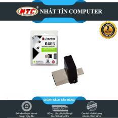 USB OTG Kingston 3.0 64GB – 2 cổng microUSB và USB (bạc)