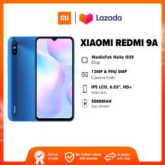 Điện thoại Xiaomi Redmi 9A (2GB/32GB) – Chip Mediatek G25 8 nhân Pin 5,000mAH Camera 13MP | Bảo hành chính hãng 18 tháng