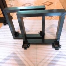Bộ chân sắt gấp kích thước 35cm. Sắt vuông 3