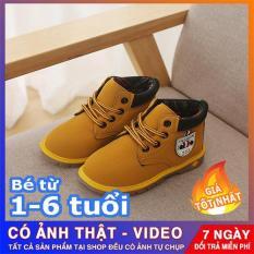 Giày boot cổ cao đế kếp cho bé trai – giày dép trẻ em đẹp (Ảnh shop tự chụp)