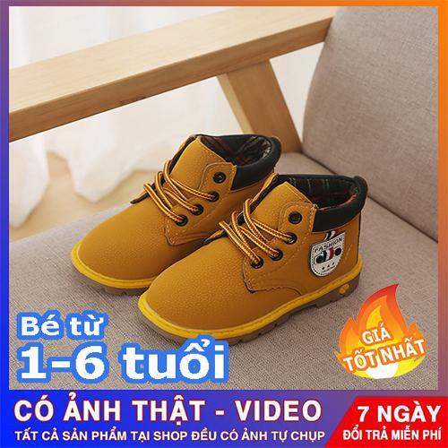 Giày boot cổ cao đế kếp cho bé trai - giày dép trẻ em đẹp (Ảnh shop tự chụp)