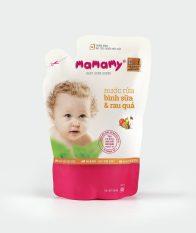 Nước rửa bình sữa và rau quả Mamamy 600ml túi bổ sung