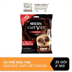 Cà phê hòa tan Nescafé café Việt cà phê đen đá (Túi 35 gói x 16g)