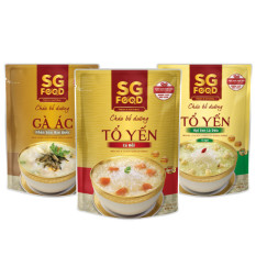 Lốc 3 (35) – Cháo bổ dưỡng SG Food 240g, tổ yến cá hồi, tổ yến hạt sen, gà ác (720g)