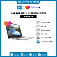 [TRẢ GÓP 0%_FREESHIP] Laptop Dell Inspiron 5593 (N5I5461W) Core i5 1035G1 15.6inch FullHD Ram 8GB 512GB SSD VGA 2GB MX230 Win10