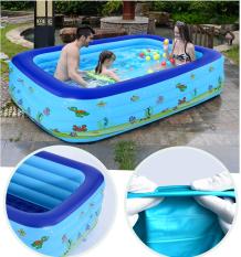 Bể bơi phao đại dương trẻ em INTEX 58485, hồ bơi bơm hơi có 3 tầng hình chữ nhật, kích thước cỡ lớn cho 4 – 5 bé cùng tắm – Chính hãng INTEX, Bảo hành 12 tháng.