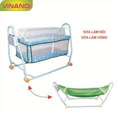 Nôi Võng tự động cho bé 2 trong 1 VINANOI – NV20 màu xanh