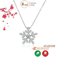 Dây chuyền bạc S925 Ý, mặt Nữ Bông Tuyết Trắng ATJ2043A -Trang Sức 𝐀𝐍𝐓𝐀 𝐉𝐞𝐰𝐞𝐥𝐫𝐲