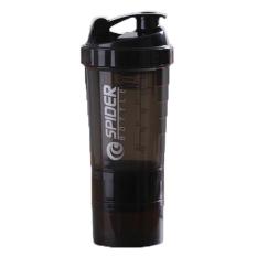 Bình Lắc Nhựa Spider 600ml – Màu Đen – Chính Hãng Amalife – Bình Lắc Shaker Tập Gym, Tập Thể Thao