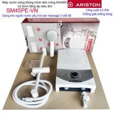 Máy nước nóng Ariston trực tiếp có bơm Ariston Aures SM45PE (có bơm), máy tắm nước nóng nước mạnh sử dụng tốt
